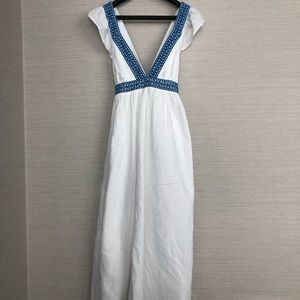 J. Crew Pregnancy Wedding Dress cross-back maxi